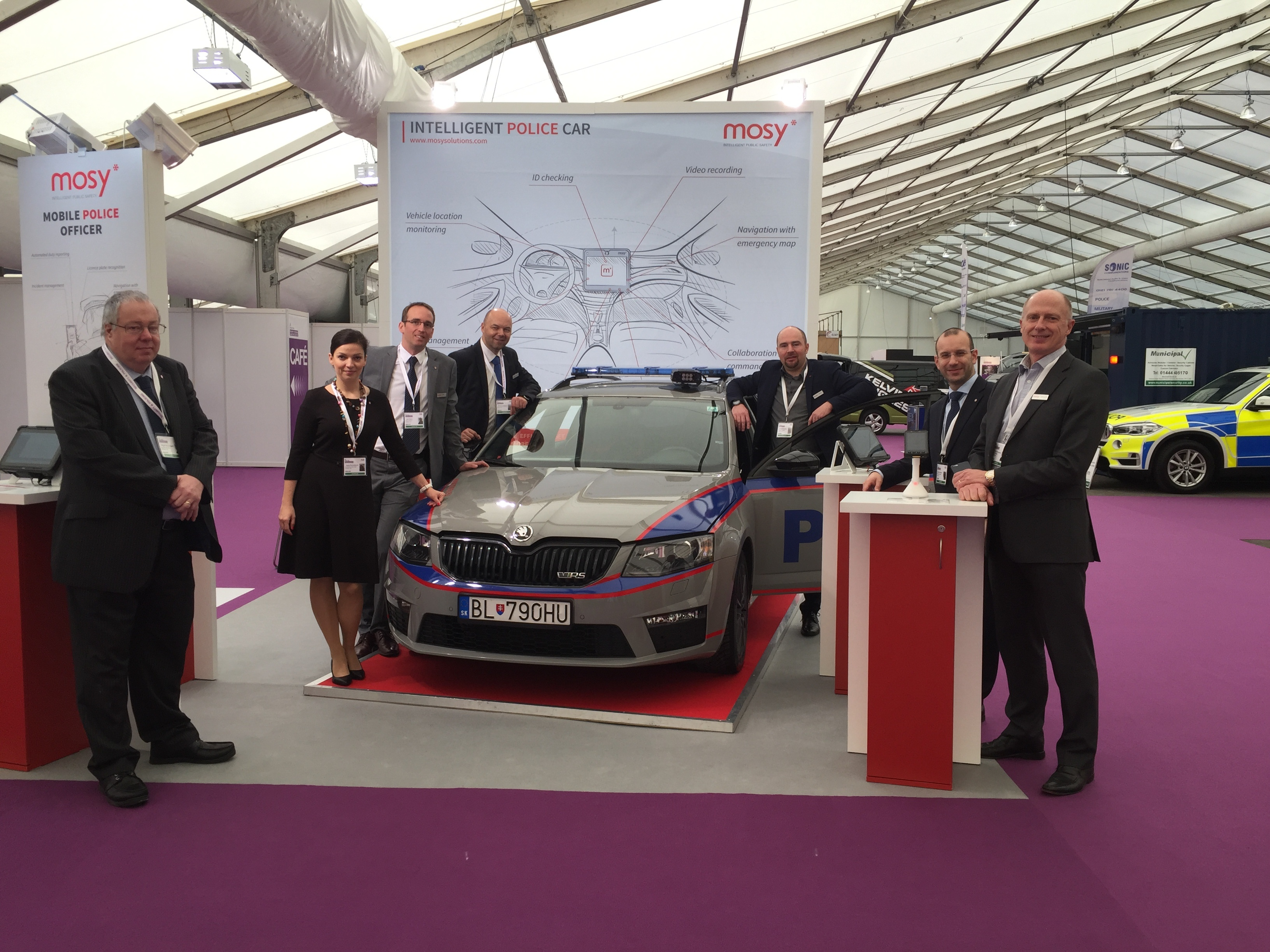 Mosy, member of Soitron Group, attended the Security and policing home office exhibition in Farnborough